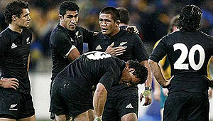 The New Zealand All Blacks. Photo AAP.