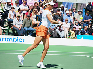 Alicia Molik in the final of the Mount Gambier Pro Tour event, 2009 - photo by Michael Gorey