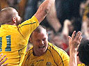 Wallabies celebrate win
