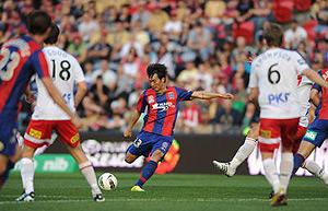Newcastle Jets Sung-Hwan Byun. AAP Image/Dean Lewins