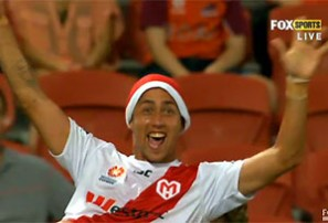 Heart's santa hat yellow card lacked Christmas spirit