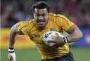 Australia's Digby Ioane runs with the ball. AP Photo/Mark Baker