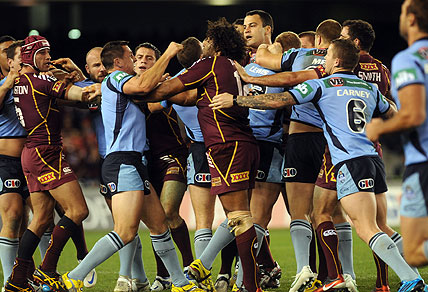 State of Origin 1 fight 2012