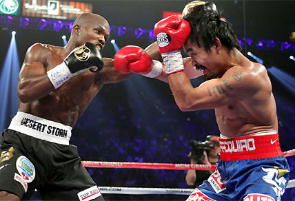 Pacquiao vs Bradley: Ringside photo