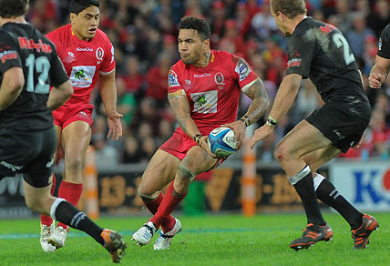 Digby Ioane throws a dummy