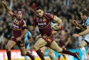Greg Inglis runs in Origin 3, 2012
