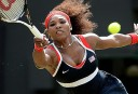 USA's Serena Williams returning the ball