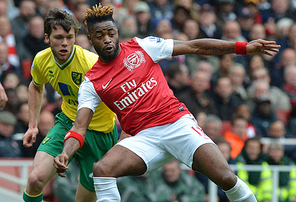 Arsenal's Cameroonian midfielder Alex Song. AAP Images