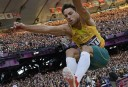 Australia's Mitchell Watt competes in the men's long jump qualifying rounds. AFP PHOTO / ADRIAN DENNIS