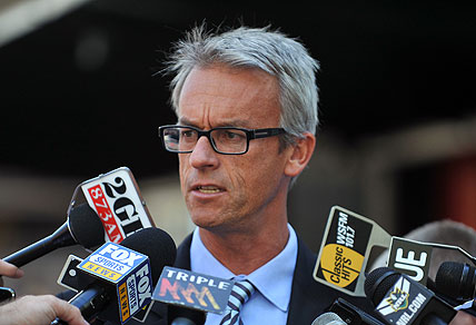 Former NRL Chief Executive David Gallop. AAP Image/Paul Miller