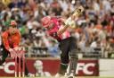 The Sydney Sixers' Moises Henriques. AAP Image/Tony McDonough