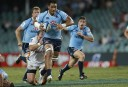 Sitaleki Timani of the NSW Waratahs on the burst. (Photo: Paul Barkley/LookPro)