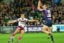 Daly Cherry-Evans starred for Manly Sea Eagles against Melbourne Storm on Monday night. (AAP Image/Action Photographics, Ian Knight)