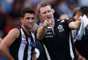 Collingwood coach Nathan Buckley. Photographer: Sean Garnsworthy <br /> <a href='http://www.theroar.com.au/2013/05/16/buckley-on-a-hiding-to-nothing/'>Nathan has Buckley's of fixing Collingwood</a>