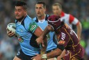 NSW Blues' Andrew Fifita in action against the Maroons during 2013 State of Origin Game 3 (AAP Image/Paul Miller)