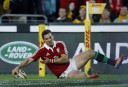 George North scores another Lions try.  (Photo: Paul Barkley/LookPro)