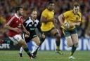 Jesse Mogg of the Wallabies finds some space. (Photo: Paul Barkley/LookPro)