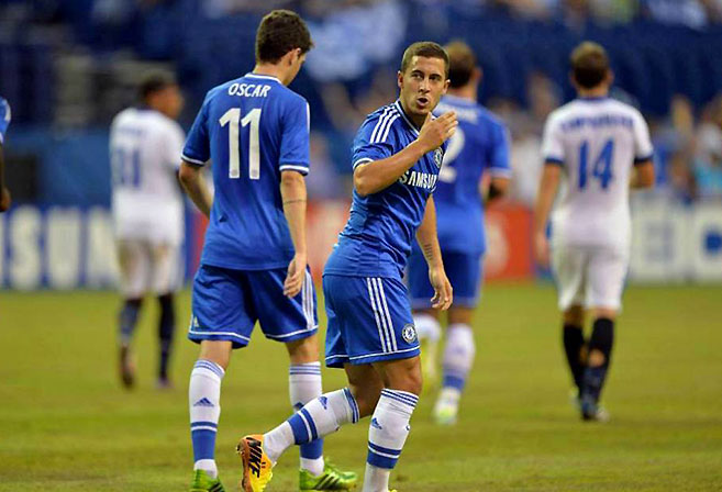 Chelsea will again rely on the creativity of Eden Hazard and Oscar.
