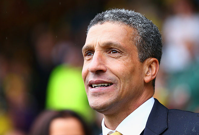 Norwich City manager Chris Hughton.