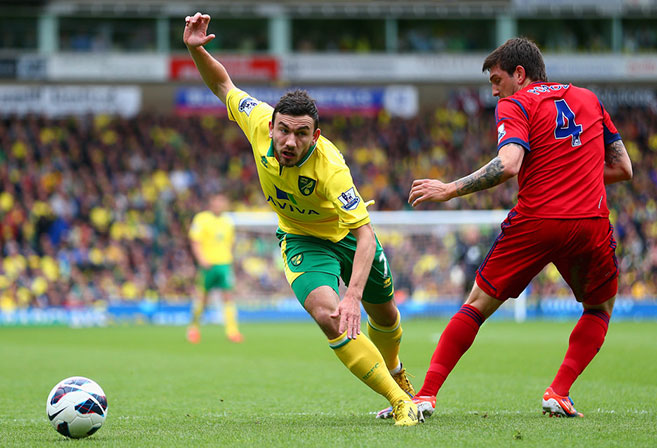 Scotland international Robert Snodgrass was one of the consistent performers for Norwich City last season.