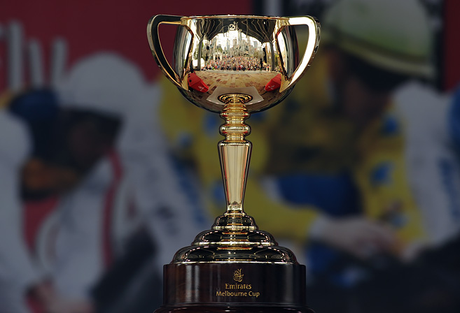 The Melbourne Cup during the Melbourne Cup parade.