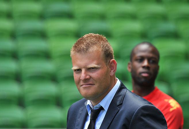 Adelaide United coach Josep Gombau. (AAP Image/Julian Smith)