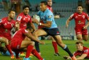 Israel Folau on a break against the Reds (Source: AJF Photography)