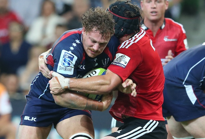 Scott Higginbotham in action for the Rebels during the round 5 Super Rugby