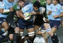 Will Skelton barging forward for the Waratahs
