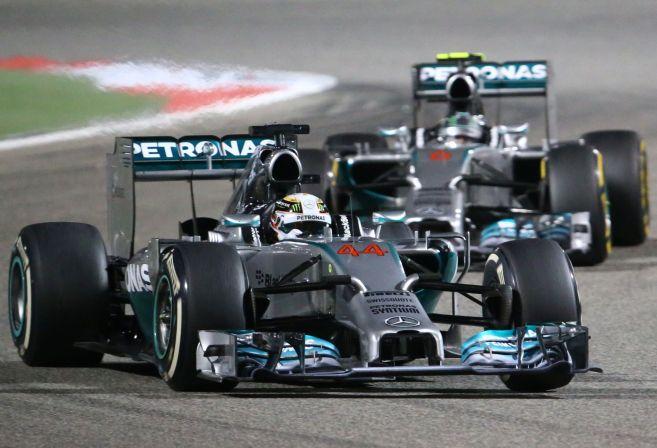 Mercedes AMG Petronas British driver Lewis Hamilton