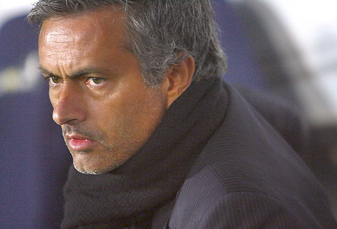 Close-up of Jose Mourinho
