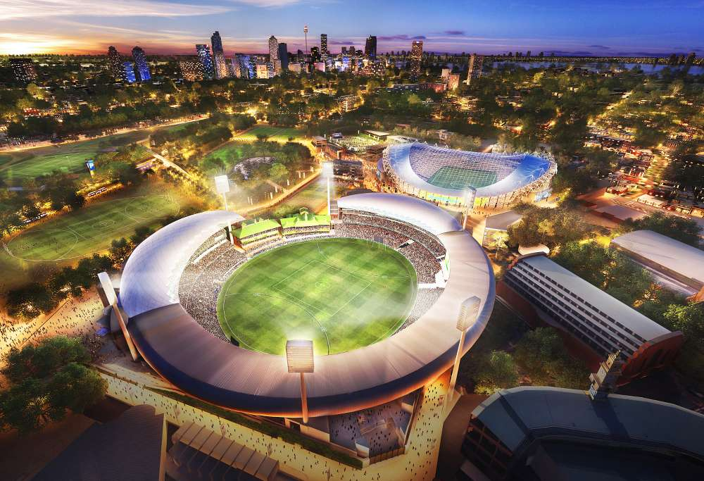 Artists impression of the refurbishment of Allianz Stadium. (Source: Supplied)