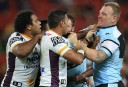 Luke Lewis squares up to the Broncos <br /> <a href='http://www.theroar.com.au/2014/06/29/up-up-cronulla-sharkies-return-to-the-winners-circle/'>Up, up, Cronulla: Sharkies return to the winners' circle</a>