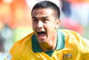Tim Cahill celebrates his amazing goal