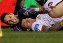 Billy Slater tackling Josh Dugan <br /> <a href='http://www.theroar.com.au/2014/07/04/billy-slater-forget-best-fullback-simply-best/'>Billy Slater: Forget best fullback, what about simply the best?</a>