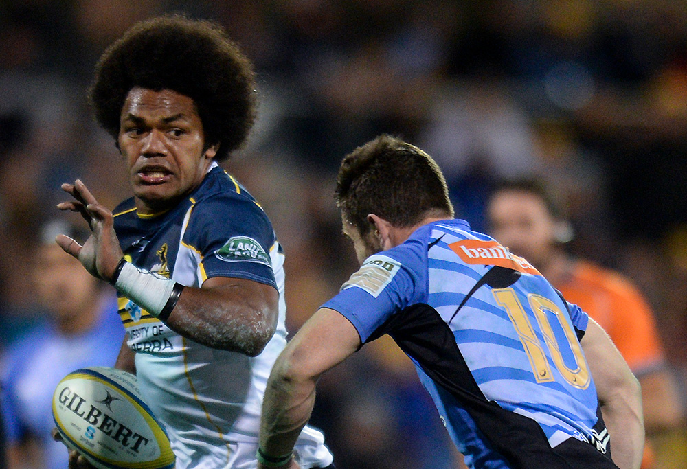 Henry Speight tackled by Zack Holmes