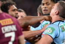 Sam Thaiday and Greg Bird clash during Game 3 of the 2014 State of Origin series <br /> <a href='http://www.theroar.com.au/2014/07/09/state-origin-game-3-full-time-result-qld-32-8-nsw/'>State of Origin Game 3: Full time result - QLD 32-8 NSW</a>
