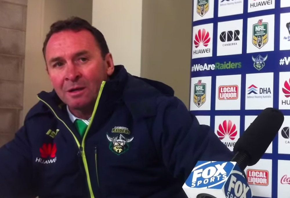 Ricky Stuart fronts the media