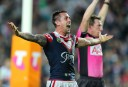 Pearce fires Roosters NRL win over Knights