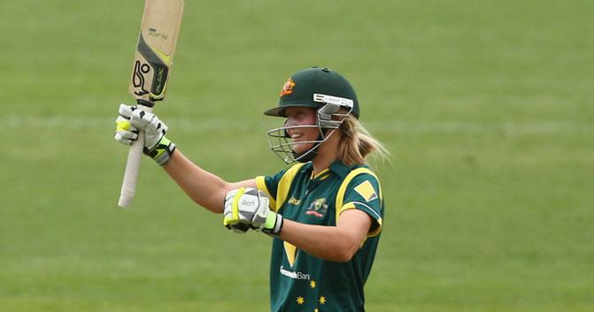 Meg Lanning. Photo via Cricket Australia