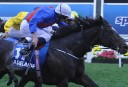 Adelaide ridden by Ryan Moore wins the Cox Plate at Moonee Valley Racecourse in Melbourne, Saturday, Oct. 25, 2014. The Cox Plate is part of the month long Spring Racing Carnival.
