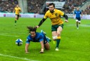 French winger Teddy Thomas scores a try against the Wallabies (Image. Tim Anger) <br /> <a href='http://www.theroar.com.au/2014/11/28/rwc-2015-discipline-boot-breakdown/'>RWC 2015: Discipline, the boot and the breakdown</a>