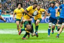 Kuridrani breaks a tackle against France (Image. Tim Anger) <br /> <a href='http://www.theroar.com.au/2014/11/28/rwc-2015-discipline-boot-breakdown/'>RWC 2015: Discipline, the boot and the breakdown</a>