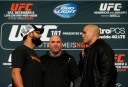 ufc18faceoff <br /> <a href='http://www.theroar.com.au/2014/12/07/ufc-181-hendricks-vs-lawler-2-live-blog-round-round-updates/'>UFC 181: Hendricks vs Lawler 2 live blog, round-by-round updates</a>