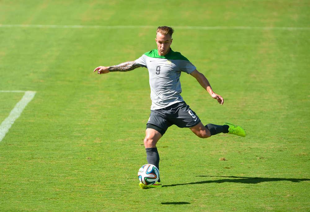 Socceroos and Fulham FC striker Adam Taggart.