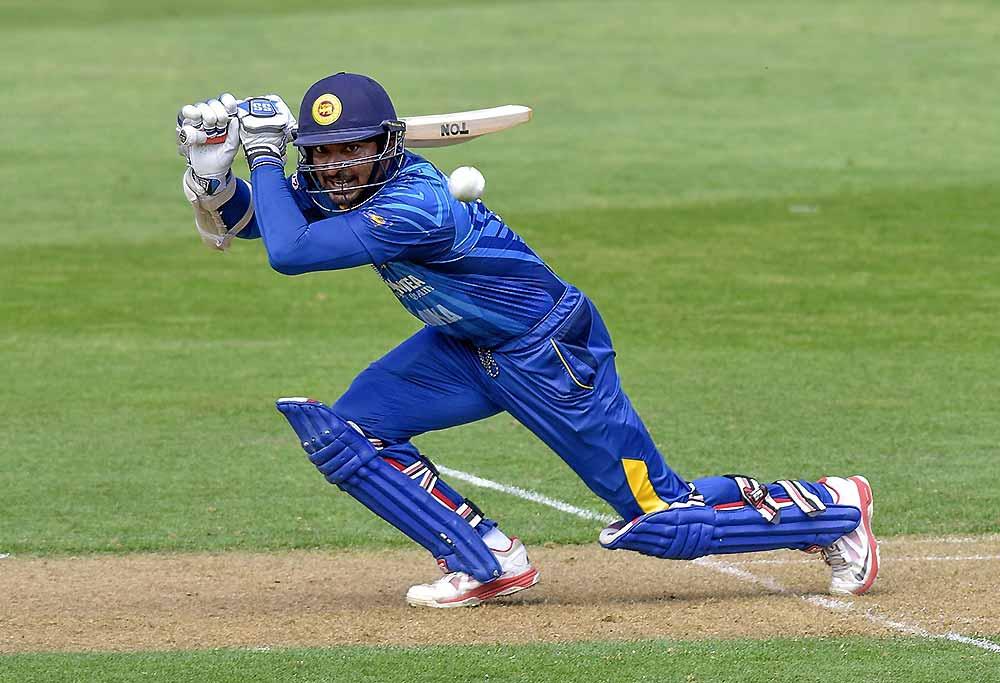 Sri Lanka's Kumar Sangakkara plays a shot