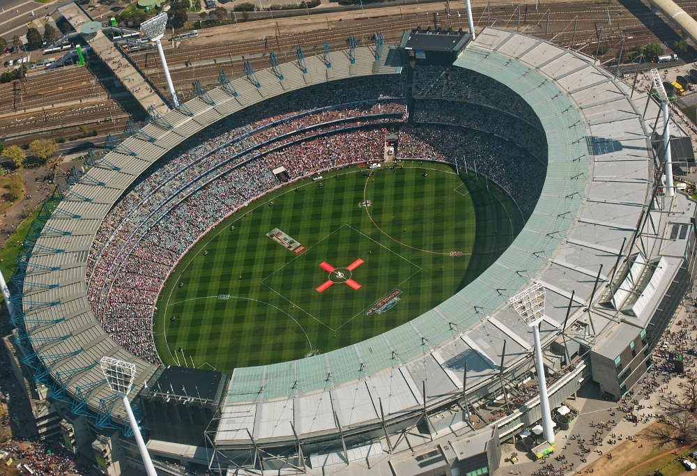 The hallowed MCG - It can barely lift its right arm