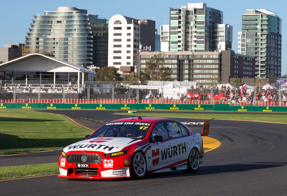 Marcos Ambrose in his comeback to V8s