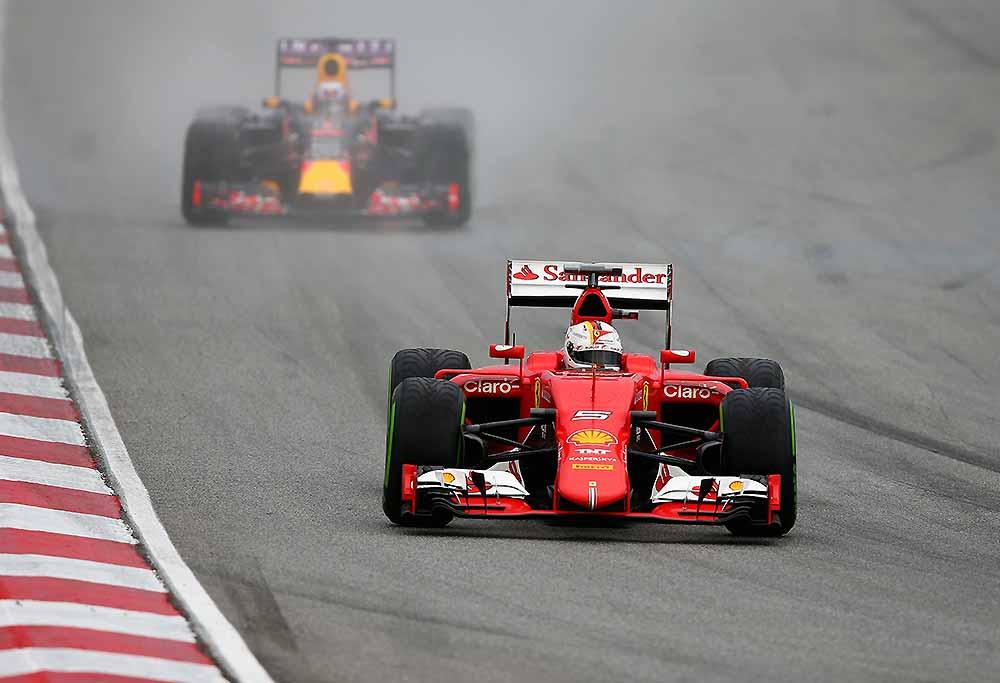 Sebastian Vettel of Germany and Ferrari