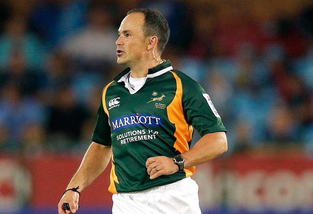 Referee Jaco Peyper of South Africa